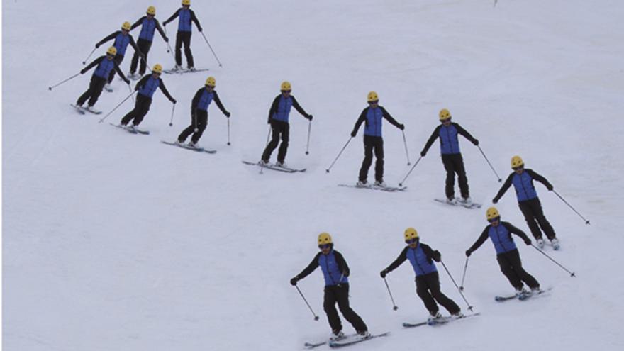 técnicas de esquí