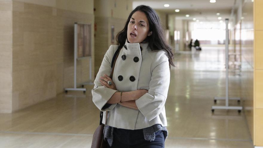 Cecilia Rosado, en la URJC este miércoles. Foto: Olmo Calvo.