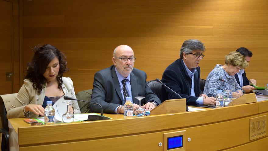 El conseller de Transparencia, Manuel Alcaraz, comparece en les Corts