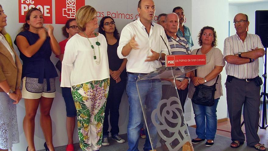 Augusto Hidalgo presenta su candidatura a las primarias del PSOE para el Ayuntamiento de Las Palmas de Gran Canaria.