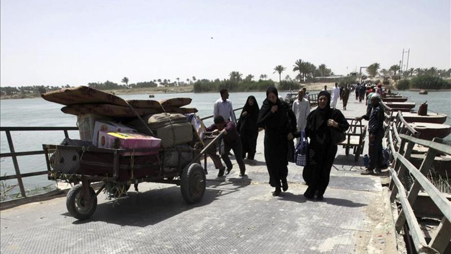 Cientos de civiles desplazados en el norte de Irak por los bombardeos