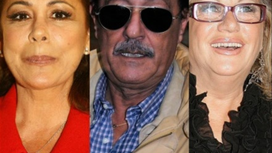 Montaje de Isabel Pantoja, Julián Muñoz y Maite Zaldívar