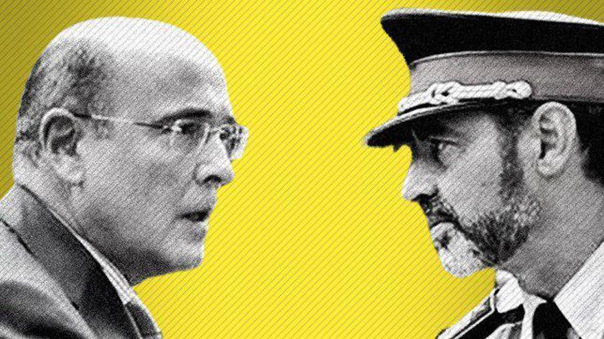El coronel de la Guardia Civil Pérez de los Cobos y el major Trapero