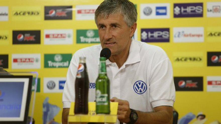 El entrenador del Herbalife Gran Canaria, Quique Setién.