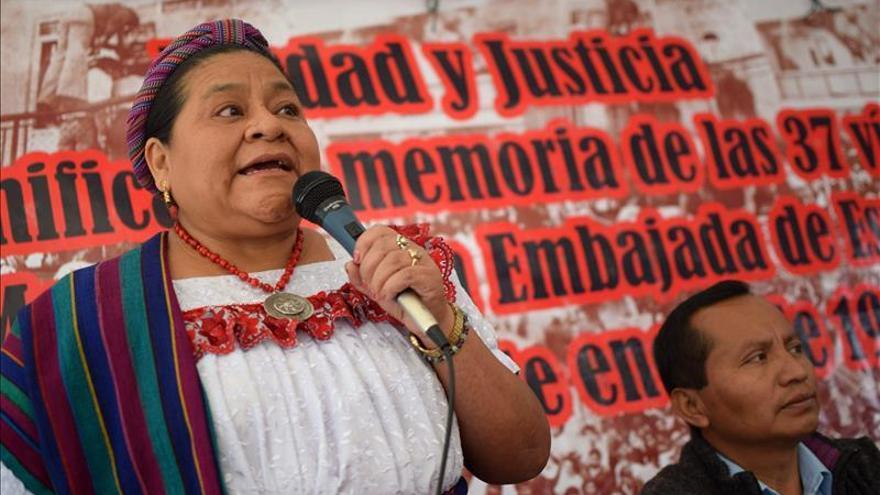 """Rigoberta Menchú exige la renuncia """"inmediata"""" del presidente de Guatemala"""