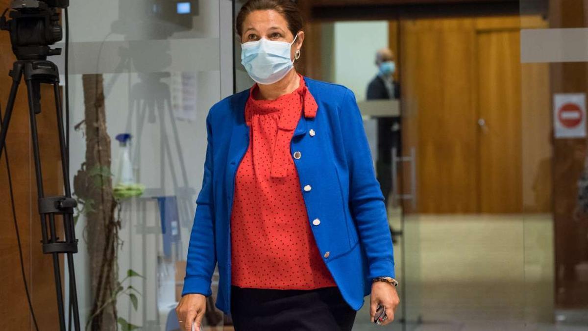 La vicepresidenta de la Junta de Extremadura, Pilar Blanco Morales
