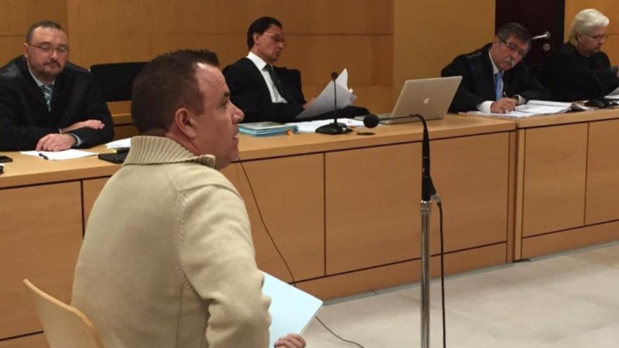 José Tavío, uno de los testigos del caso Arona 1, durante su declaración
