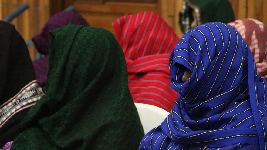 Las mujeres de Sepur Zarco, de etnia q'ueqchi, en el juicio sobre los abusos sexuales y la desaparición de sus maridos en el conlficto interno de Guatemala. | Foto: Alianza Rompiendo el Silencio y la Impunidad.