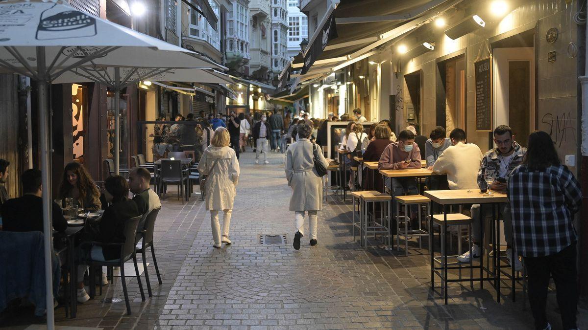 Zona de bares en A Coruña