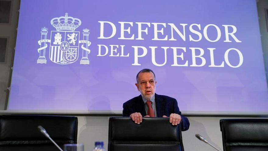 El defensor del Pueblo en funciones, Francisco Fernández Marugán, durante un acto.