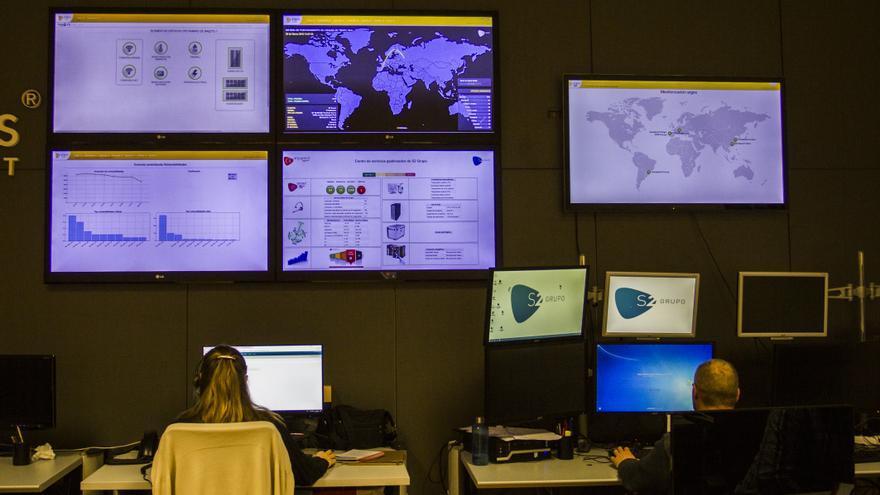 Instalaciones de la empresa de ciberseguridad S2, en Valencia.