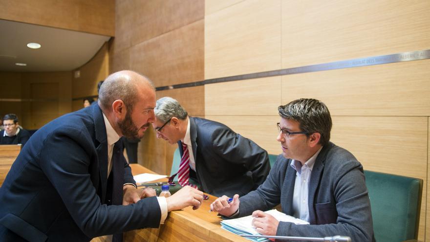 Toni Gaspart, diputado de Hacienda, y Jorge Rodríguez, presidente de la Diputació