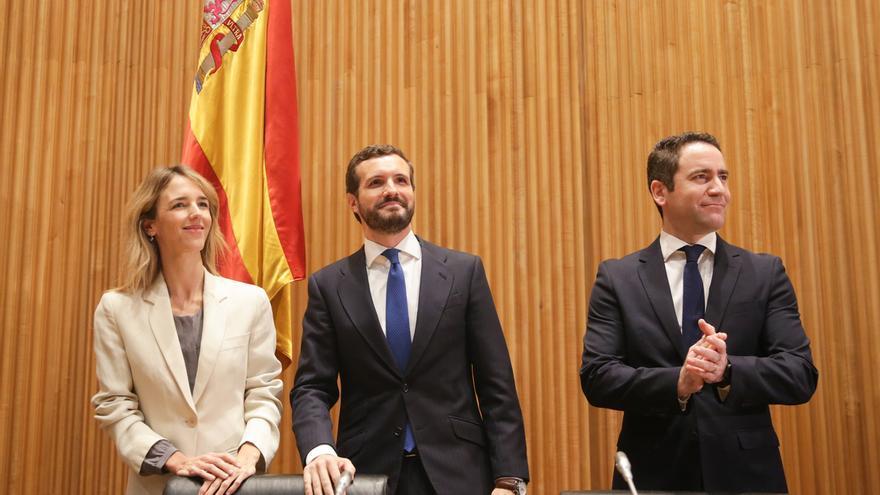Casado pide apoyo para que Ciudadanos entre en la Mesa del Congreso y reitera que el PP no ayudará a excluir a Vox