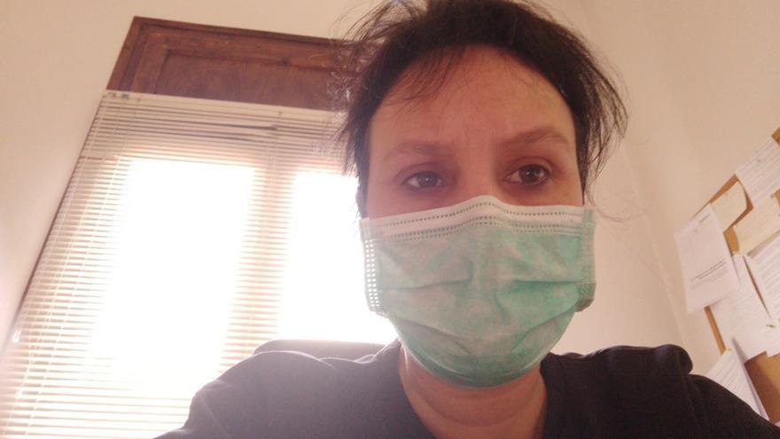 Lorena Canales es, además de diputada en las Cortes, concejal en el Ayuntamiento de Sariñena, localidad golpeada por el coronavirus.