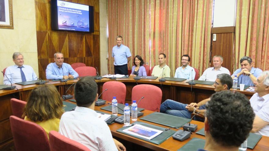 Reunión técnica mantenida en el Cabildo.