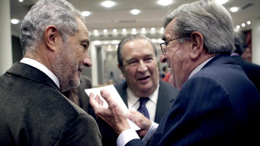 Adán Martín, Jerónimo Saavedra y Manuel Hermoso.