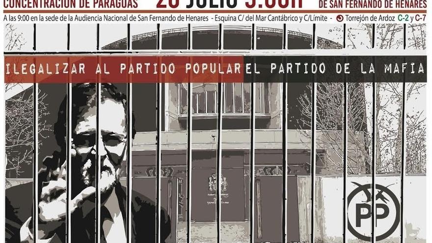Organizadores del 'Rodea el Congreso' convocan una protesta contra Rajoy este miércoles frente a la Audiencia Nacional