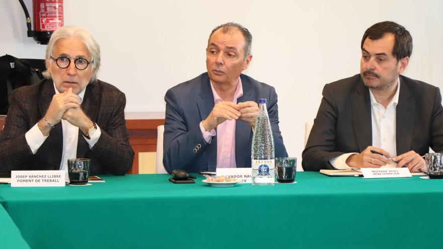 Imagen de los tres presidentes de las patronales catalana, valenciana y aragonesa