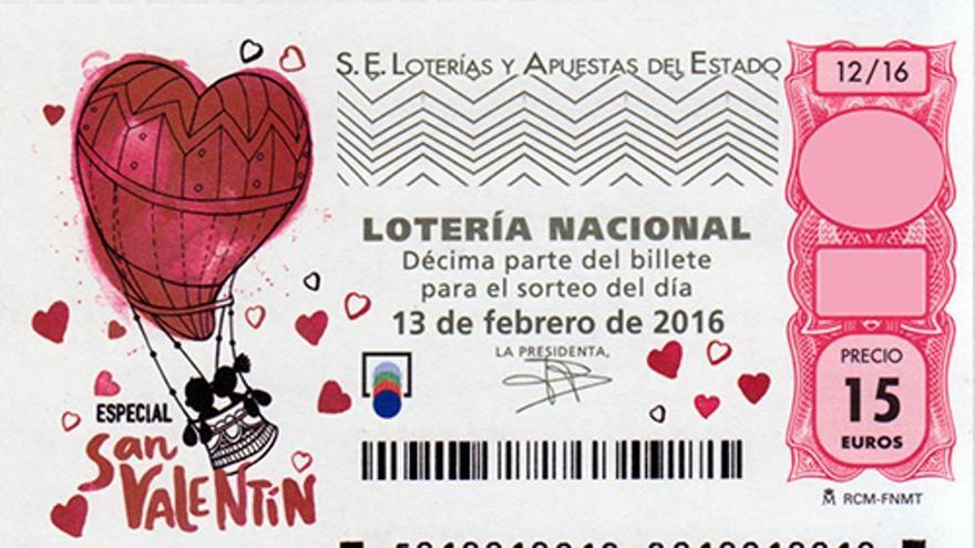 El primer premio de la Lotería de San Valentín deja más de un millón de euros en Gran Canaria