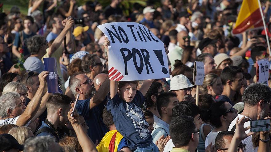 """""""No tinc por"""", el lema de la manifestación que ha congregado a medio millón de personas"""