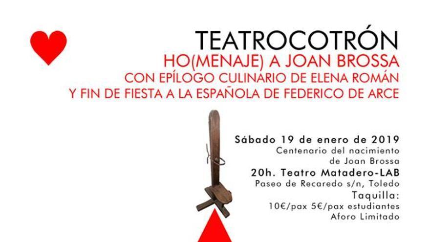 Cartel de la obra de teatro de homenaje a Joan Brossa