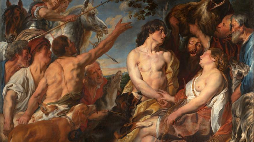Jacob Jordaens. 'Meleagro y Atalanta'.