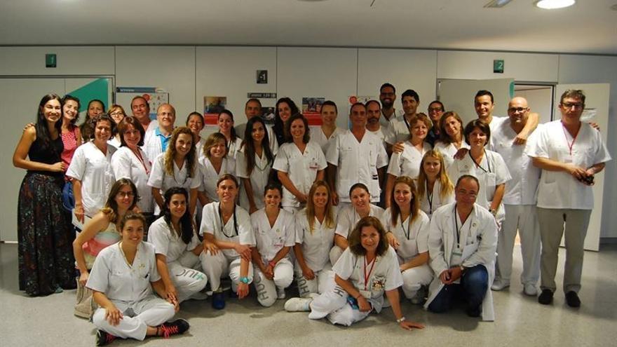 Personal de la Unidad de Fisioterapia del HUC / Foto cedida