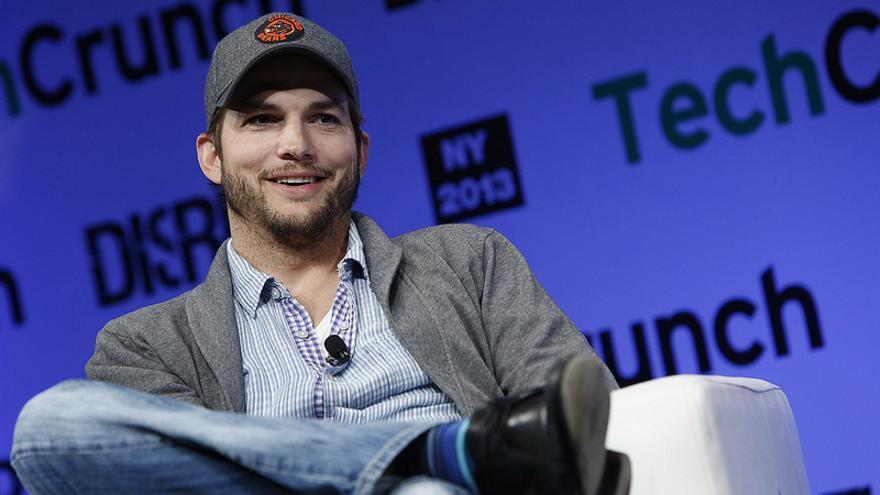El actor Ashton Kutcher (Foto: TechCrunch   Flickr)