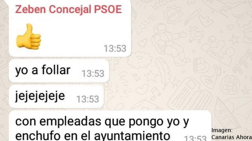 El PSOE suspende de militancia al concejal de La Laguna (Tenerife) Zebenzuí González por sus comentarios machistas