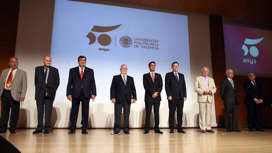 Imagen del inicio de los actos de celebración de los 50 años de la UPV