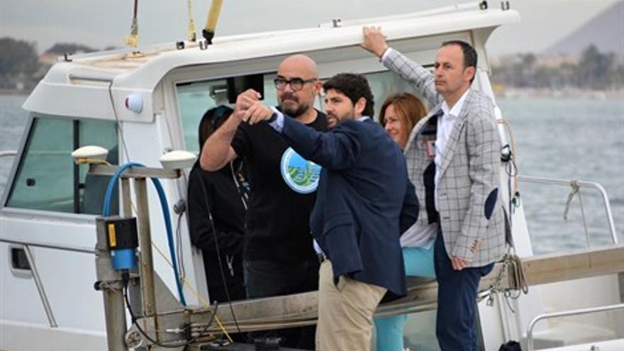 López Miras en su visita al Mar Menor