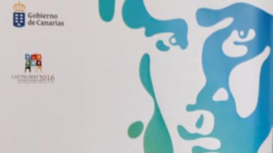 Cartel del Día de las Letras Canarias dedicado a Tomás Morales.