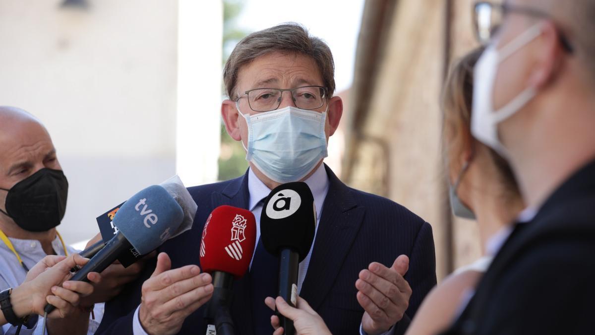 El presidente de la Generalitat Valenciana, Ximo Puig, este viernes en Salamanca.