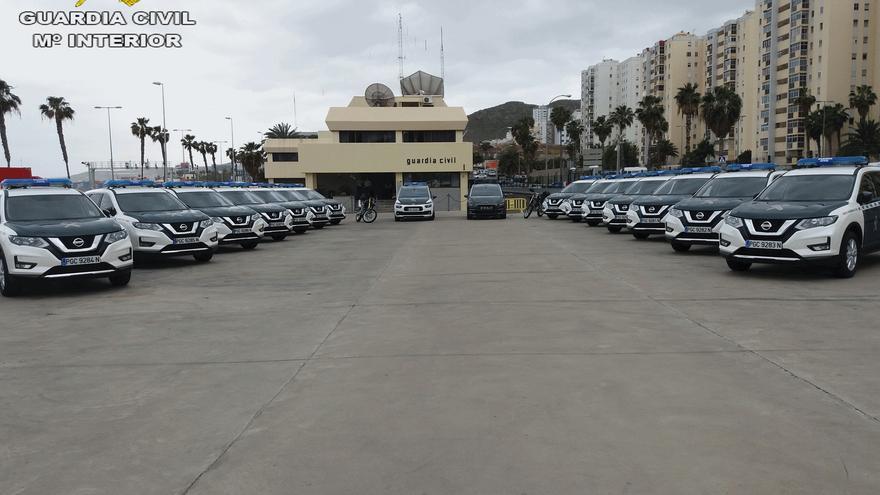 Presentación de vehículos nuevos de la Guardia Civil en marzo de 2018, en Gran Canaria