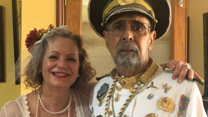 Fifo López con Mercedes Coello en los pasados Indianos.