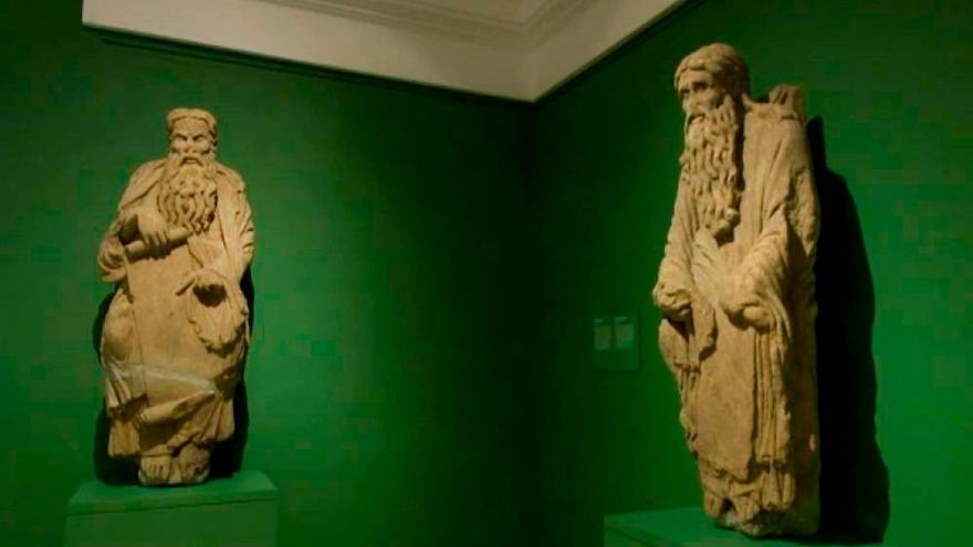 Esculturas del Pórtico de la Gloria en propiedad de los Franco