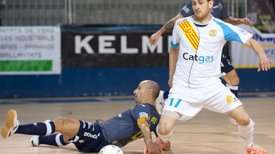 Rafa López con la camiseta del Santa Coloma   LNFS