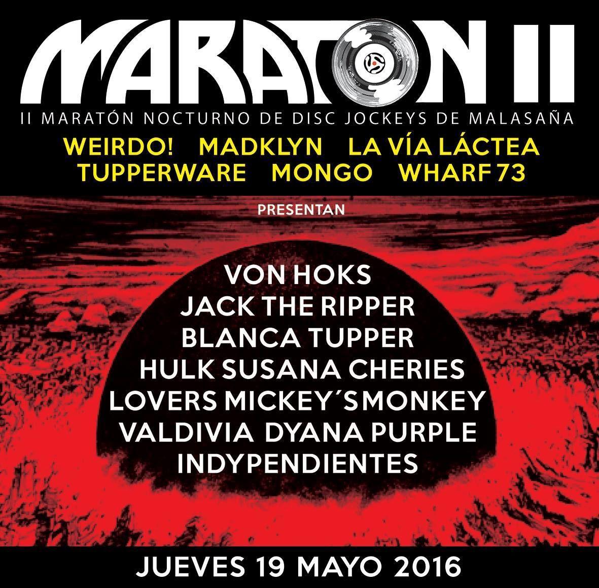 Cartel anunciador del II maratón de DJs
