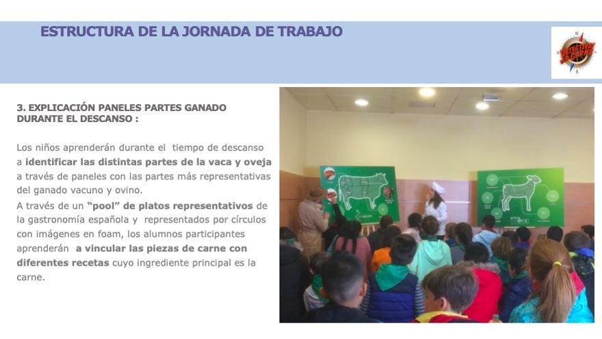 Actividad en la que participan colegios públicos de la Comunidad de Madrid con motivo de la feria Meat Attraction, que tiene lugar estos días en Ifema