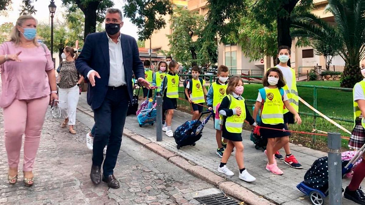 Inicio del programa 'Camino al Cole' en Córdoba.