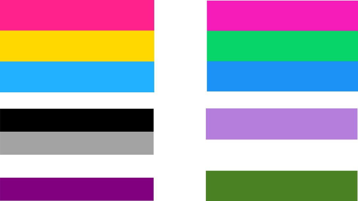 Banderas Pansexual, Asexual, Polisexual y Queer | WIKIPEDIA