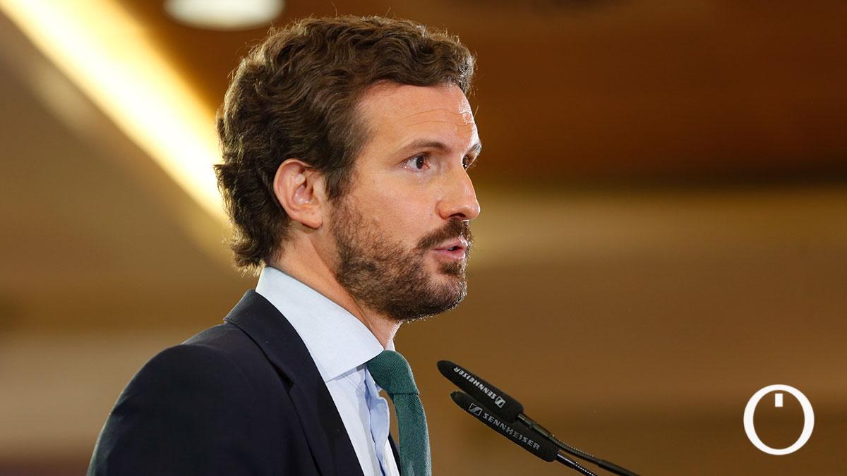 El presidente del PP, Pablo Casado abre una jornada de preparación de la Convención del PP de otoño