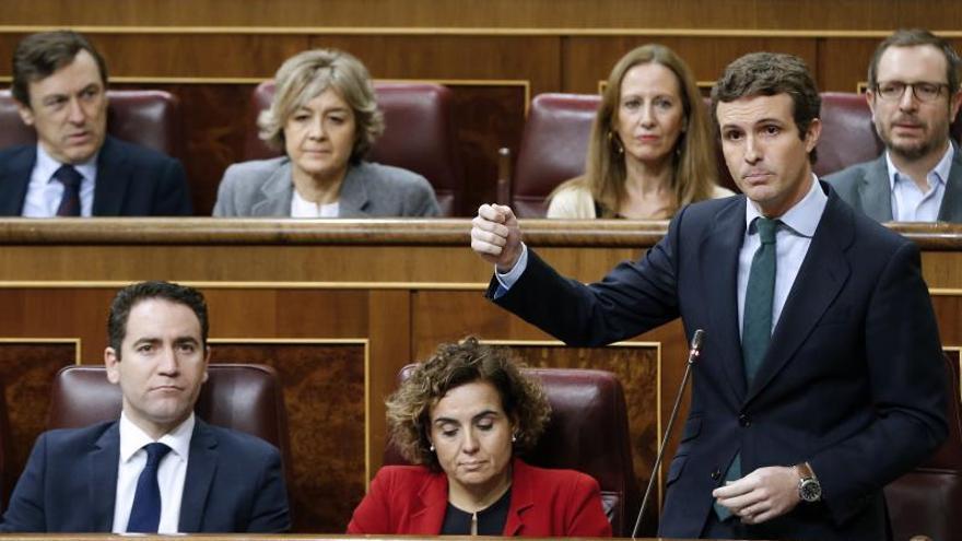 "Casado alerta a Sánchez de que Torra busca una ""guerra civil"""