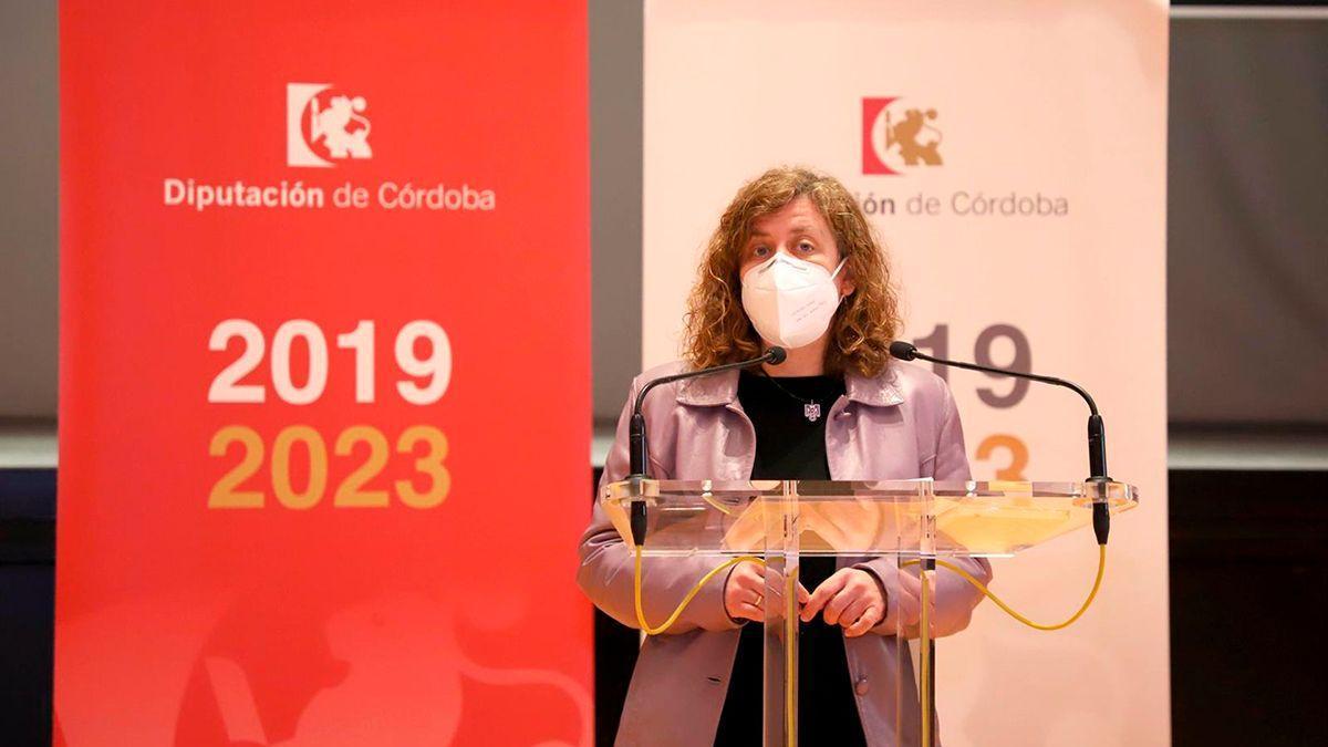 La delegada de Igualdad en la Diputación de Córdoba, Alba Doblas, presenta las actividades previstas con motivo del 8M.