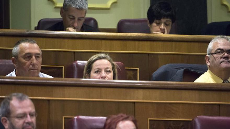 La diputada de Coalición Canaria, Ana Oramas (c), durante la segunda sesión del debate y votación de enmiendas al proyecto presupuestario de 2017