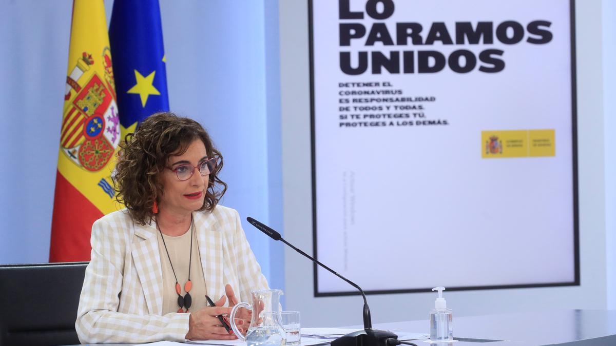 La portavoz del Gobierno y ministra de Hacienda, María Jesús Montero. EFE/Fernando Alvarado