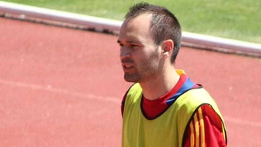Andres Iniesta Entrenamiento Selección Española