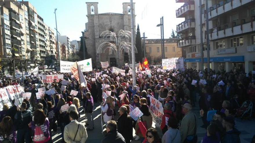 Manifestación en Guadalajara contra el trasvase Tajo-Segura. Foto: Twitter (@SacedonFS)