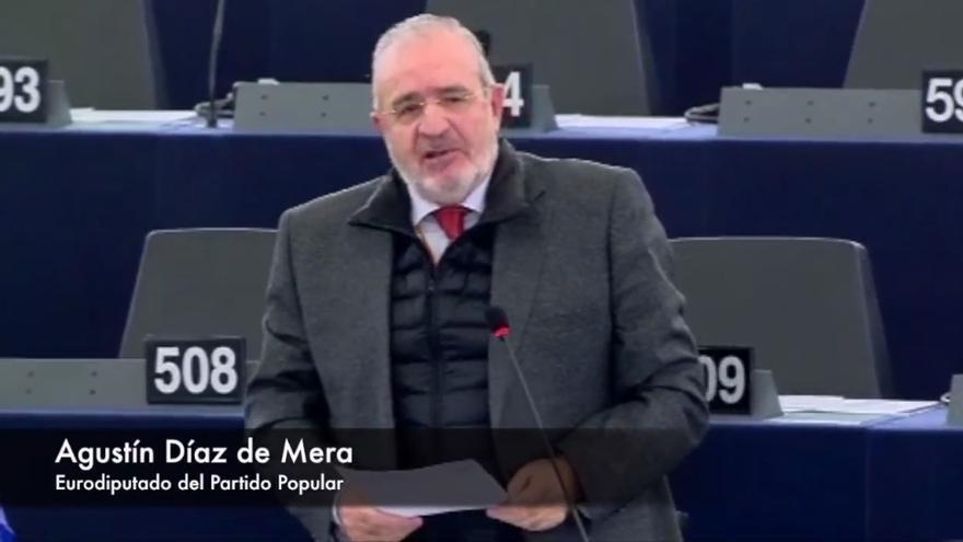 El eurodiputado del PP Agustín Díaz de Mera.
