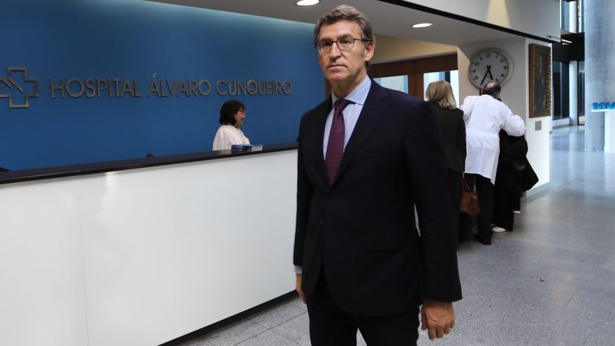 Feijóo, esta semana visitando el hospital Álvaro Cunqueiro de Vigo